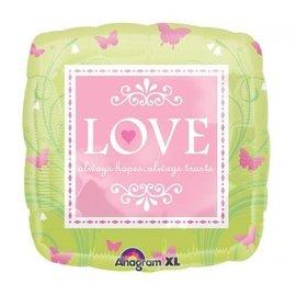 """Foil Balloon - Bridal Love Butterflies - 18"""""""