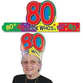 Headband-Look Who's 80-1pkg-Adjustable