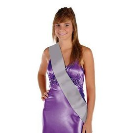 Sash-Satin-Make Your Own-Silver-1pkg