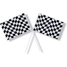 Flag-Race Car-8''x14.5''