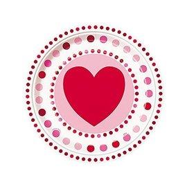 Plates-LN-Valentine-Radiant Heart-8pk