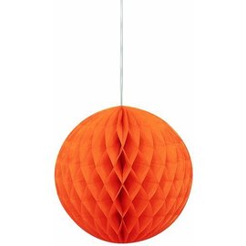 Honeycomb Ball-Orange-Paper-8''