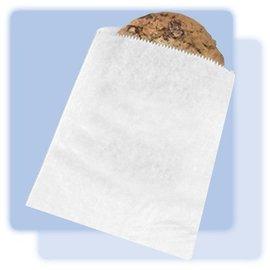 "Bags-Cookie-White-Paper-100pk (6""x.75""x6.75"")"