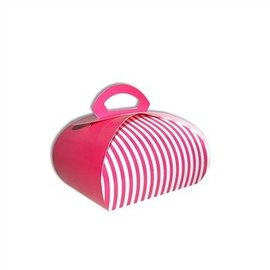 Cake Box-Fancy-Pink-Paper-7''x7''x4''
