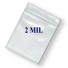 Ziplock Bag-Clear-Plastic-8'' x 10''-2mil-100pk