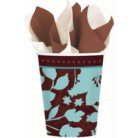 Cups-Cocoa Floral-8pk-Paper (Discontinued)