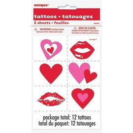 Tattoos-Valentines -12pk
