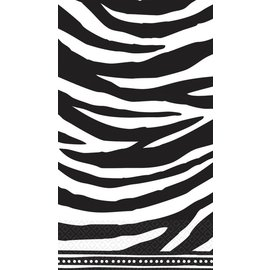 Napkins-Guest Towels-Zebra-16pk-2ply (Discontinued)