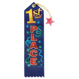 Award Ribbon-1st Place-7.75''