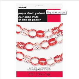 Garland-Chain-Red Polka Dots-5Ft