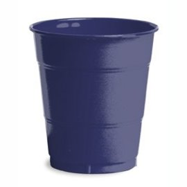 Plastic Cups-Navy Blue-20pkg-12oz