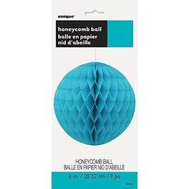 Honeycomb Ball-Teal-Paper-8''