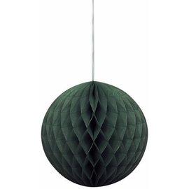 "Honeycomb Tissue Ball- Black- 8"""
