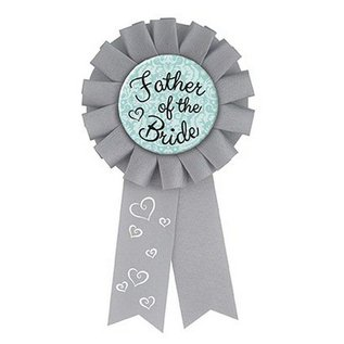Award Ribbon- Father Of The Bride- 1pk/5.25""