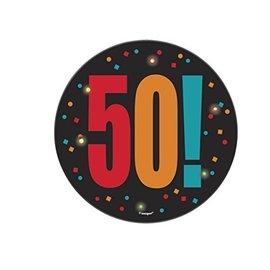 "Blinking Button- 50th Birthday Cheer- 1pc/5.5"""