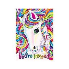 Invitations-Neon Pony Lisa Frank-8pk