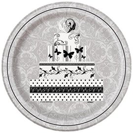 "Luncheon Paper Plates- Victorian Wedding- 8pk/8.75""  (Discontinued)"