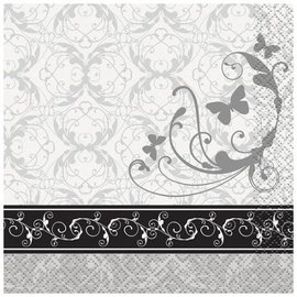 Beverage Napkins- Victorian Wedding- 16pk/2ply (Discontinued)