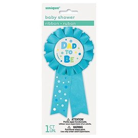 Awad Ribbon-Baby Shower-Dad To Be-Blue