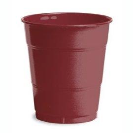 Plastic Cups-Burgundy-20pkg-12oz