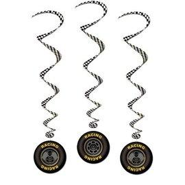 "Danglers-Swirl-Racing Tires-3pkg-40"""