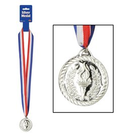 Award Medal-Silver with Ribbon-1pkg-30""