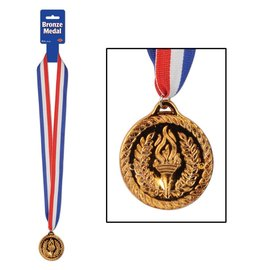 Award Medal-Bronze with Ribbon-1pkg-30""