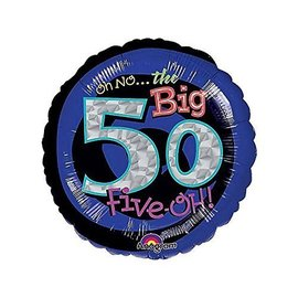 """Foil Balloon - Oh No the Big 50 - 18"""""""