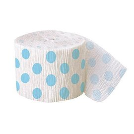 Streamer-Powder Blue Dots-Paper-30Ft