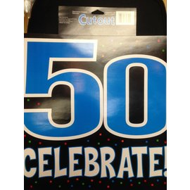 Cutout-50th Celebration-15''x15''