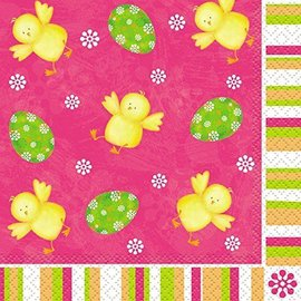 Beverage Napkins- Easter Bunny- 16pk/2ply