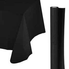 Tablecover Roll-Jet Black-100Ft-Plastic