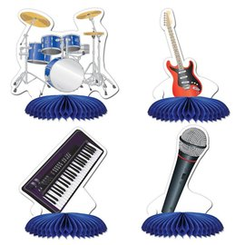 "Centerpiece Kit-Honeycomb-Band Playmates-4pkg-4.5"""