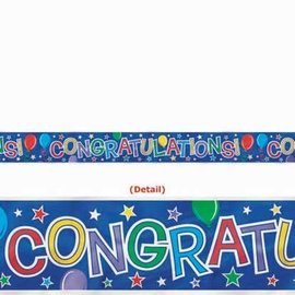 Banner- Balloon Congrats-Foil-15ft