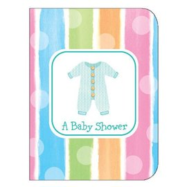 Invitations-Baby Shower Clothes-8pkg