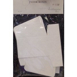 "Favor Boxes- White Floral- 10pk/3""x1.5""x2"""