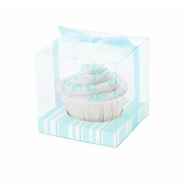 Favor Box Kit-Light Blue Stripes-20pkg-3.5""