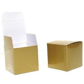 """Favor Boxes-Gold Cube-20pkg-1 5/16"""""""