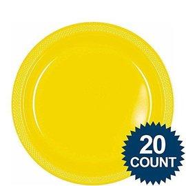 Plates-LN-Yellow Sunshine-20pk-Plastic