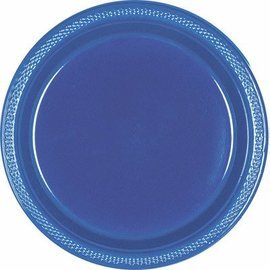 Plates-Navy Flag Blue-20pk-Plastic