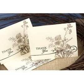 Thank You Cards-Natural Flowers-50pk