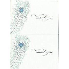 Thank You Cards-Blue Peacock-50pk