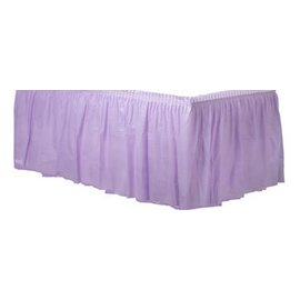 Table Skirt-Rectangular-Lavender-Plastic