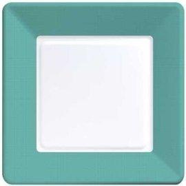 Plates-LN-Tropical Teal Border-12pkg-Paper (Discontinued)