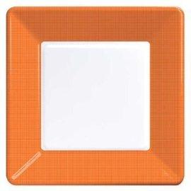 Plates-BEV-Sunkissed Orange Border-12pkg-Paper (Discontinued)