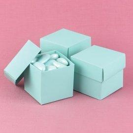 Favor Boxes- Aqua- 25pk
