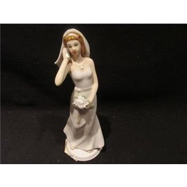 Cake Topper-Bride with Cell Phone-1pkg-14cm