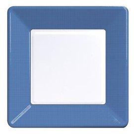 Plates-LN-Textured True Blue Border-12pkg-Paper