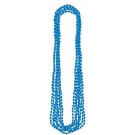 Bead Necklaces-Metallic-Blue-8pk/30''