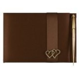 Guest Book- Brown Hearts